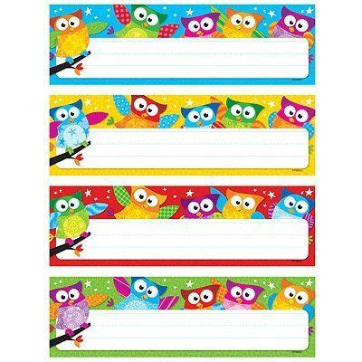 printable owl desk tags owl stars desk toppers name plates variety pack http