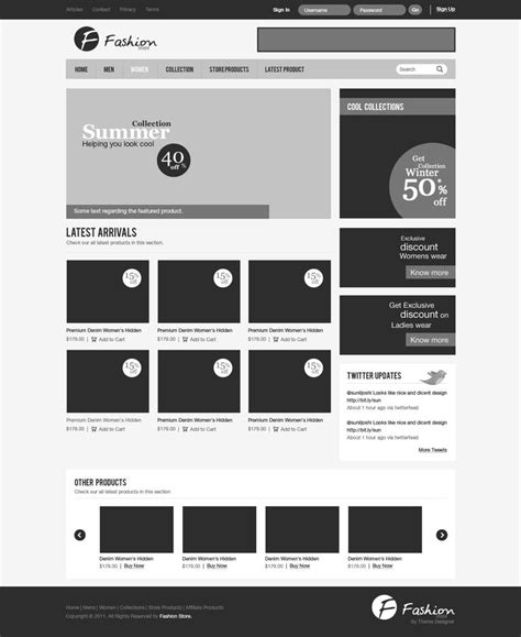 web layout wireframe wireframe of a fashion store website great wireframe