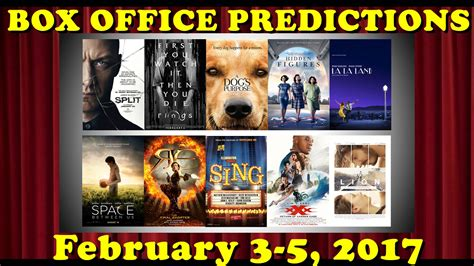 box office 2016 forecast weekend box office predictions february 3 5 2017 youtube