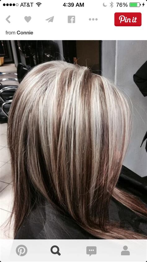 brown hair with platinum highlights 2217 best images about hairstyles on pinterest chunky