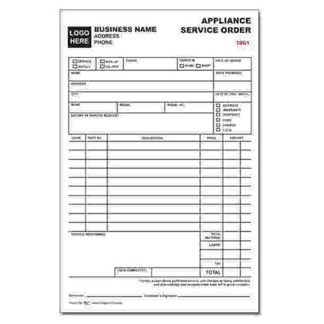 sales receipt template for appliance store product details designsnprint