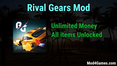 mod game unlimited money rival gears mod unlimited money all items unlocked