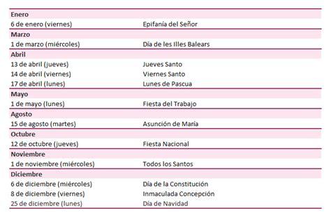 Calendario De Fiestas 2017 Calendario Laboral A 241 O 2017