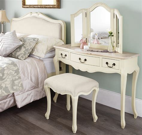 Shabby Chic Bedroom Furniture Sets Uk Shabby Chic Chagne Stool Bedroom Furniture Direct
