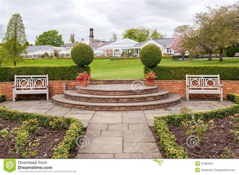 park bench scene park scene stock images image 31360524