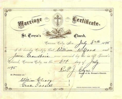 Sedgwick County Marriage License Records Kansas Marriage Certificate