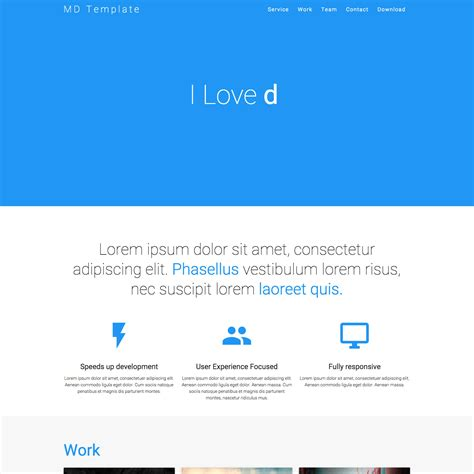 30 one page website templates built with html5 css3