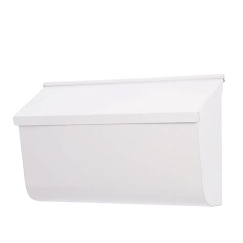 gibraltar mailboxes woodlands white wall mount mailbox