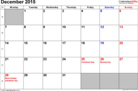 calendar december 2015 uk, bank holidays, excel/pdf/word