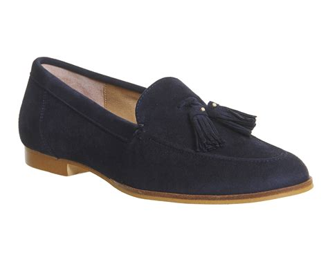 womens loafers womens office tassel loafers navy suede flats