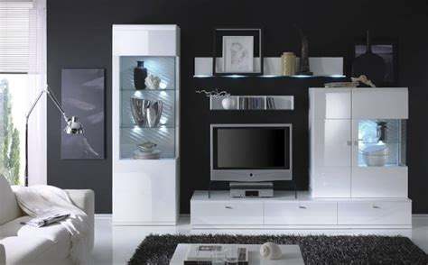white high gloss living room furniture sets luxury design