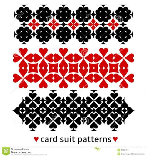 card patterns patterns with card suits stock vector image of opposite