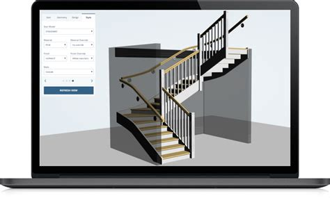 design online free design your stair on the web staircon online designer