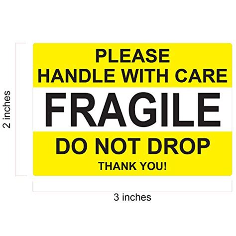 Label Sticker Pengiriman Fragile 2 fragile handle with care do not drop label stickers 2 quot x 3 quot 1000 labels 2 rolls x 500