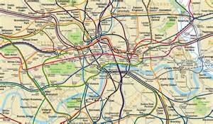 Abstract Garden Art - london underground releases official geographic map boing boing
