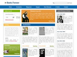 free css templates for books books forever free website template free css templates
