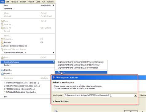 tutorial c in eclipse eclipseで新しいワークスペースを作成する tutorial exles code q a 日本語