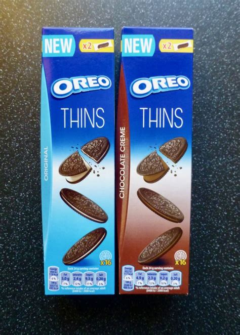 Oreo Thins Vanila Flavour 95g oreo thins original chocolate creme nibbles n scribbles