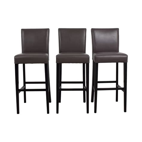 Crate And Barrel Leather Bar Stools by 89 Crate Barrel Crate Barrel Lowe Smoke Leather