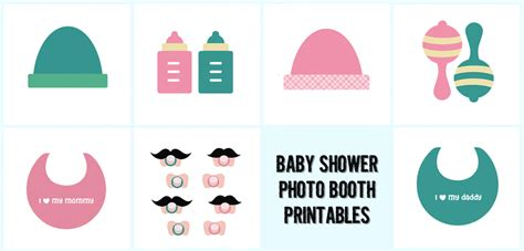 free printables for baby shower photo booth 8 best images of free printable baby shower props booth