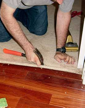 How To Replace Hardwood Floor Strips by Installing Carpet Against Hardwood Floors Step By Step
