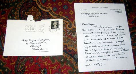 Reference Letter Envelope A Two Page Written Letter From J R R Tolkien With Addressed Envelope Contains