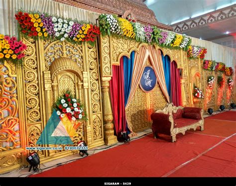 wedding stage decoration jayaram thirumana nilayam