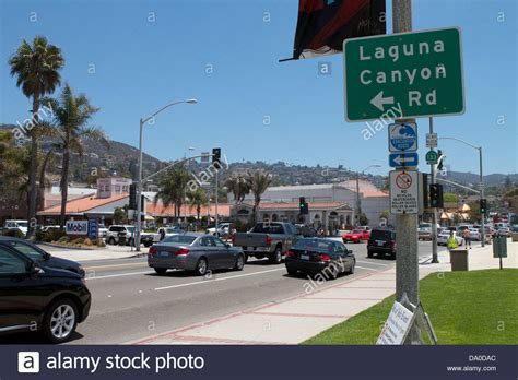 california highway one pch and laguna canyon rd in laguna beach stock photo royalty - Pch Shopping Cart