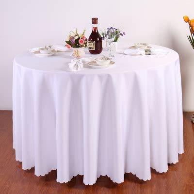 round table with white tablecloth dining table linens promotion shop for promotional dining