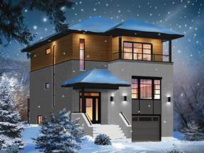 Modern 2 Story House Plans by Small 2 Story Contemporary House Plans