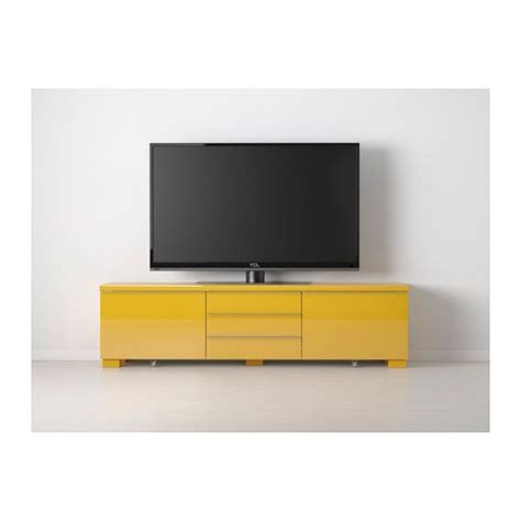 Besta Burs Yellow by Best 197 Burs Tv Unit High Gloss Yellow