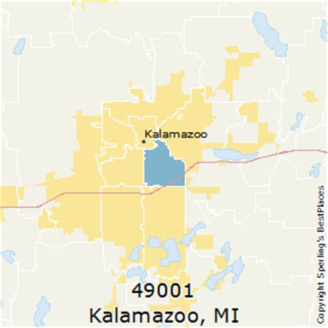 zip code map kalamazoo county best places to live in kalamazoo zip 49001 michigan