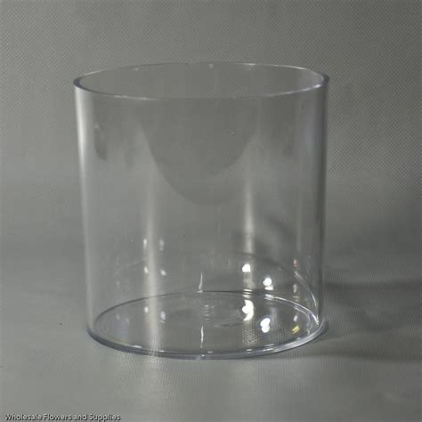 Clear Plastic Cylinder Vases by 6 Quot X 6 Quot Plastic Cylinder Vase Clear Wholesale Flowers And Supplies
