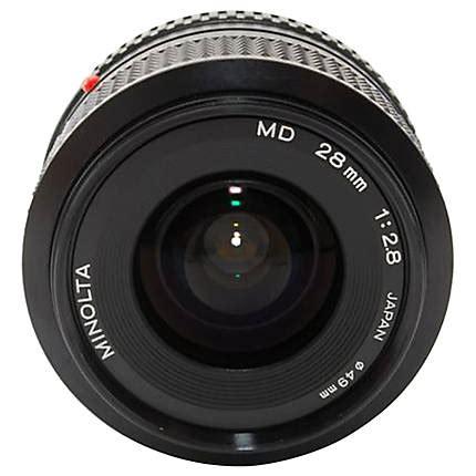 Minolta Md W Rokkor 28mm F2 8 used minolta md 28mm f2 8 w rokkor x l excellent