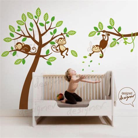 monkey wall stickers monkey wall decals 2017 grasscloth wallpaper