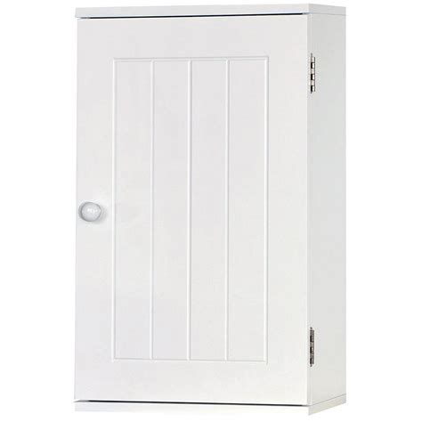 Single White Cupboard Wall Mounted Cabinet Bathroom White Single Door