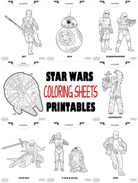 printable star wars activity book coloring sheets printables and star wars on pinterest