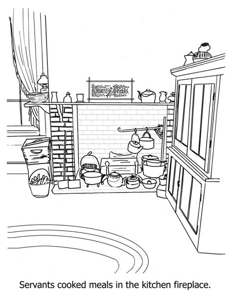 kitchen coloring pages to download and print for free