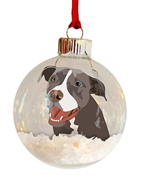 personalized pit bullterrier christmas ornaments pit bull staffordshire terrier blue ear personalized ornament memorial