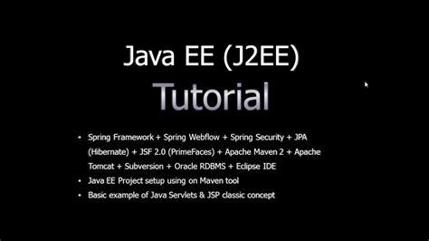 J2ee Tutorial Website | java ee j2ee tutorial for beginners part1 youtube