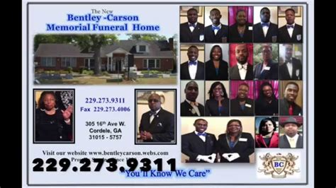 bentley carson memorial funeral home blue commercial
