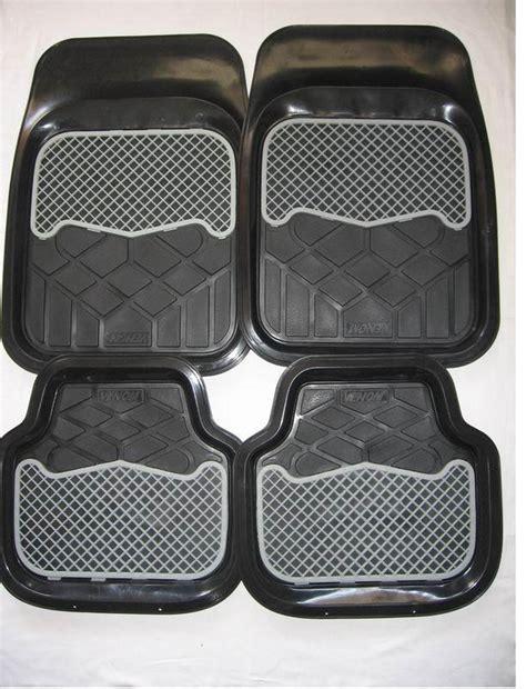 Decorative Floor Mats by Black Non Slip Decorative 4pcs Car Floor Rubber Mats Buy