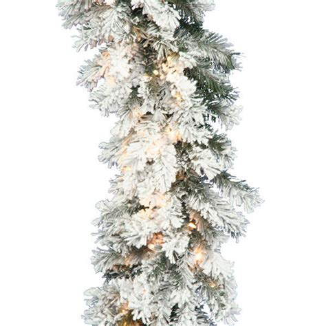 vickerman a806316 9 ft pvc christmas garland flocked