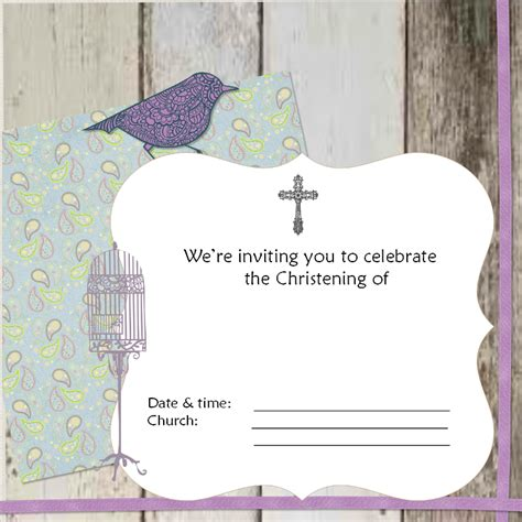 free christening invitation cards