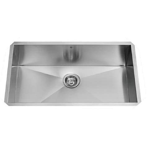 stainless steel single bowl kitchen sinks vigo 30 quot x 19 quot undermount single bowl 16 stainless steel kitchen sink reviews wayfair