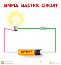 a simple electric circuit stock vector image of closed 34345333
