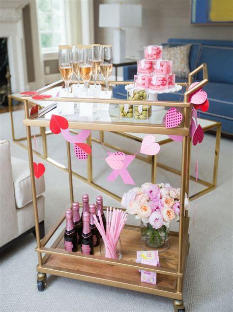 Valentine's Day Bar Cart   Fashionable Hostess