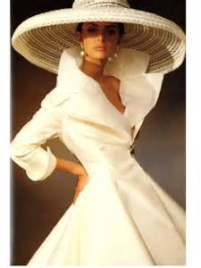 White coat dress and really big hat more hats style dress elegant hat