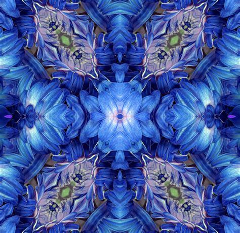 blue kaleidoscope wallpaper blue kaleidoscope background free stock photo public