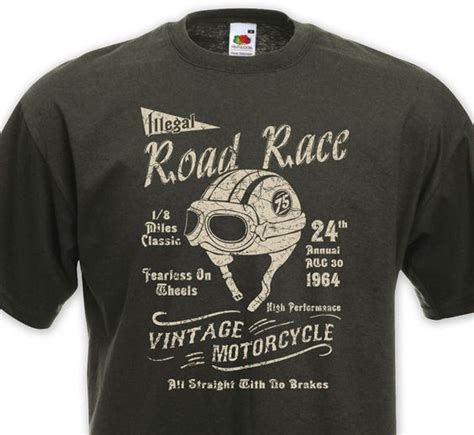 Tshirt Motor Cycle d 233 tails sur t shirt road race cafe racer racing vintage